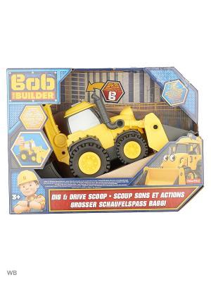 Боб строитель  Скуп Копай и уравляй Mattel. Цвет: горчичный