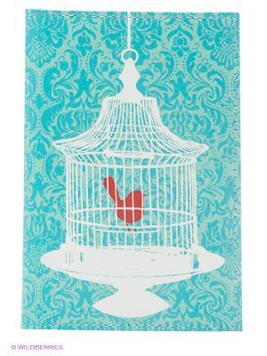 Обложка для паспорта Mitya Veselkov. Цвет: голубой, белый