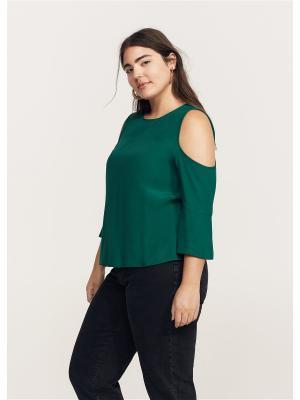 Блузка - NEWBA Violeta by Mango. Цвет: темно-зеленый