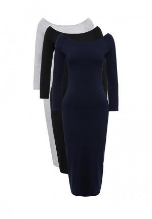 Комплект платьев 3 шт. oodji. Цвет: разноцветный