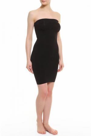 Декольтированное платье Julie France. Цвет: черный