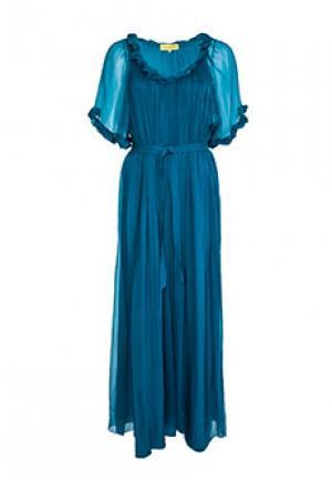 Платье C.MALANDRINO. Цвет: голубой