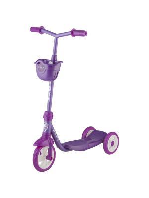 Самокат городской Foxx Baby с пластиковой платформой и EVA колесами 115мм (и.упак.), щиток, ультрама. Цвет: фиолетовый