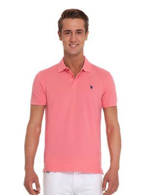 Футболка-поло U.S. Polo Assn.. Цвет: розовый