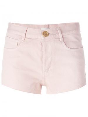 Джинсовые шорты Forte. Цвет: розовый и фиолетовый