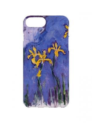 Чехол для iPhone 7Plus Клод Моне - Желтые ирисы Арт. 7Plus-359 Chocopony. Цвет: синий, желтый