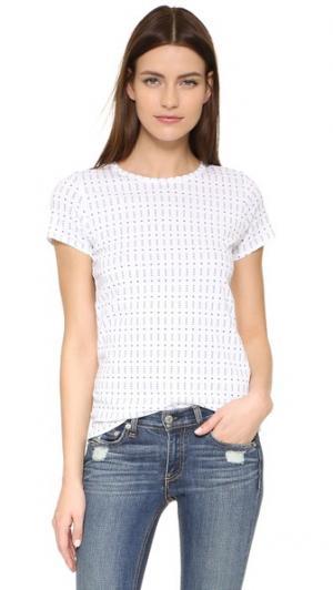 Простая футболка Rag & Bone/JEAN. Цвет: белый принт