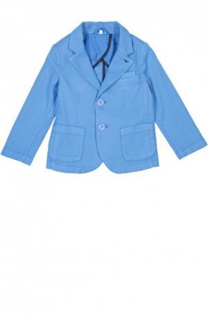 Пиджак Giorgio Armani. Цвет: голубой