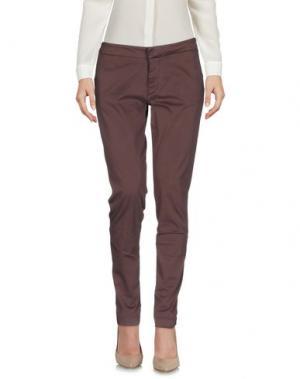 Повседневные брюки TAKUTEA. Цвет: какао