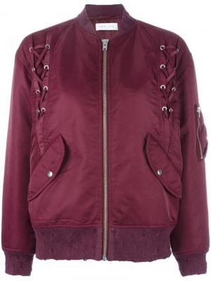 Куртка-бомбер со шнуровкой Iro. Цвет: красный