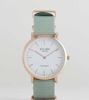 Reclaimed Vintage Часы 36 мм с парусиновым ремешком оливкового цвета I. Цвет: зеленый