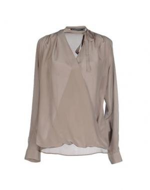 Блузка LA CAMICIA BIANCA. Цвет: серый