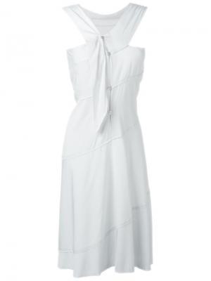 Платье с необработанными краями Ma+. Цвет: серый