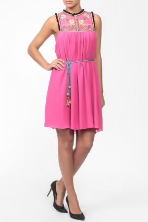 Платье,пояс Matthew Williamson. Цвет: розовый