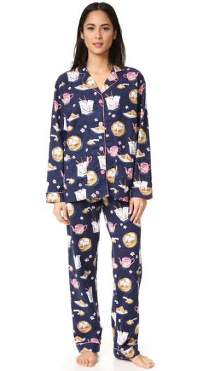 Пижама Take Out PJ Salvage. Цвет: темно-синий