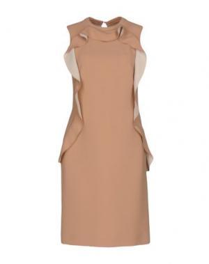 Короткое платье LALTRAMODA. Цвет: песочный