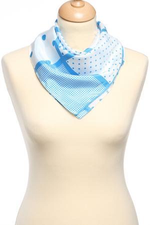Платок F.FRANTELLI. Цвет: белый, голубой