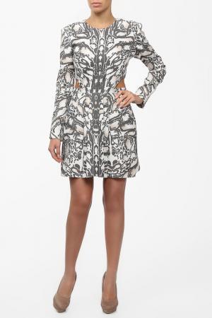 Платье SALLY LAPOINTE. Цвет: серый