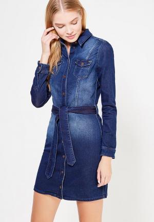 Платье джинсовое Pepe Jeans. Цвет: синий