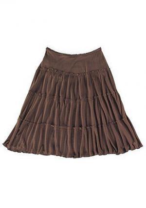 Короткая пляжная юбка. Цвет: коричневый