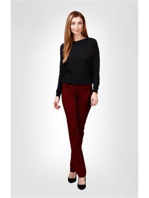 Брюки Milana Style. Цвет: бордовый