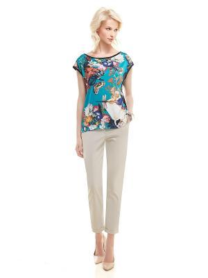 Блуза Spicery. Цвет: бирюзовый, кремовый, серый
