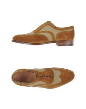 Обувь на шнурках EDWARD GREEN. Цвет: хаки