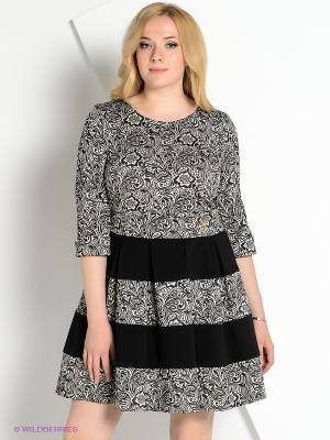Платье КАЛIНКА. Цвет: черный, белый