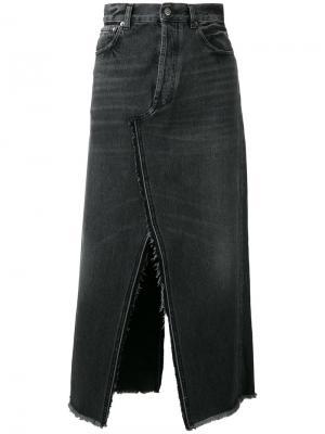 Джинсовая юбка в винтажном стиле Golden Goose Deluxe Brand. Цвет: чёрный