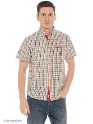 Рубашка Mavango. Цвет: зеленый, желтый, красный
