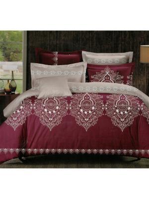 Комплект постельного белья 1,5 спальный Boris. Цвет: бордовый