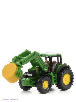Трактор с кипоукладчиком SIKU. Цвет: зеленый