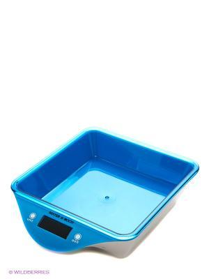 Весы кухонные MAYER-BOCH. Цвет: голубой, прозрачный