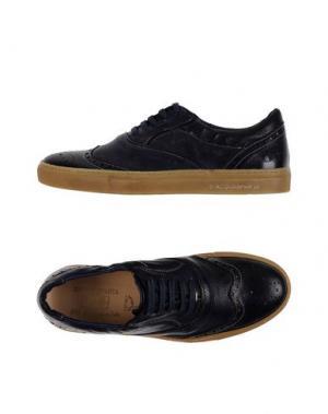 Низкие кеды и кроссовки D'ACQUASPARTA. Цвет: темно-синий
