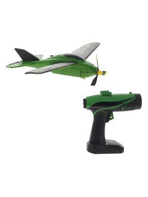 Самолет летающий с пусковым устройством Ястребок Зелено-черный ВластелиНебес. Цвет: зеленый, черный