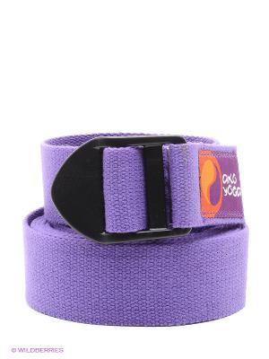 Ремень для йоги Бодхи Де люкс 250смх 4смх2,5мм (фиолетовый) Ako-Yoga. Цвет: фиолетовый