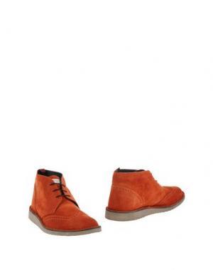Полусапоги и высокие ботинки ANGELO NARDELLI. Цвет: ржаво-коричневый