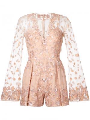 Декорированный комбинезон Zuhair Murad. Цвет: розовый и фиолетовый
