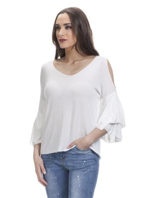 Блузка TANTRA. Цвет: белый
