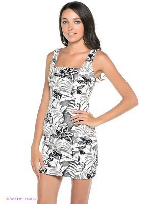 Платье Befree. Цвет: серый, молочный