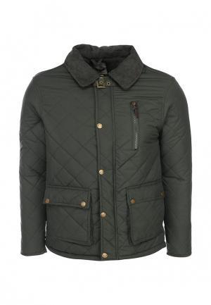 Куртка утепленная Brave Soul. Цвет: зеленый