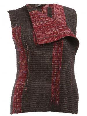 Жилетка с плетеным дизайном Yang Li. Цвет: чёрный