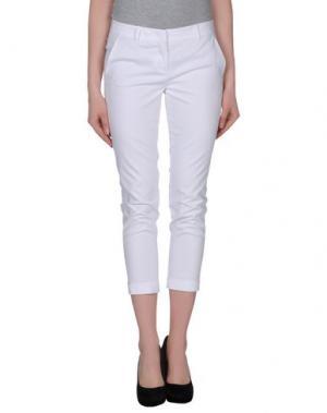 Повседневные брюки TWELVE-T. Цвет: белый