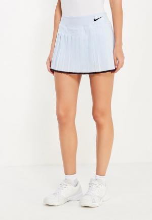 Юбка-шорты Nike. Цвет: голубой