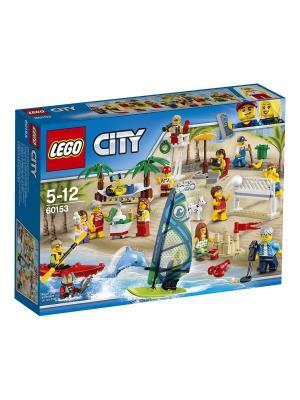 City Town Отдых на пляже - жители LEGO 60153. Цвет: синий