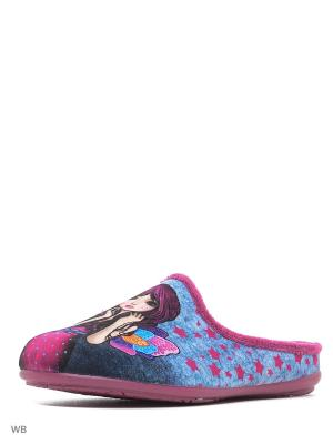 Тапочки Mon Ami. Цвет: розовый, лиловый, малиновый