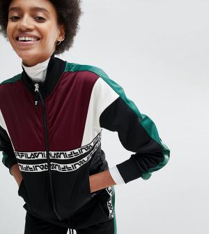 Fila Спортивная куртка с контрастными вставками и логотипом. Цвет: черный