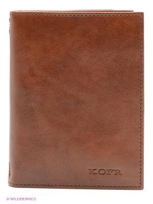 Обложка для водительского удостоверения Kofr. Цвет: коричневый