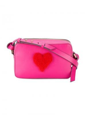 Мини сумка через плечо с сердцем Anya Hindmarch. Цвет: розовый и фиолетовый