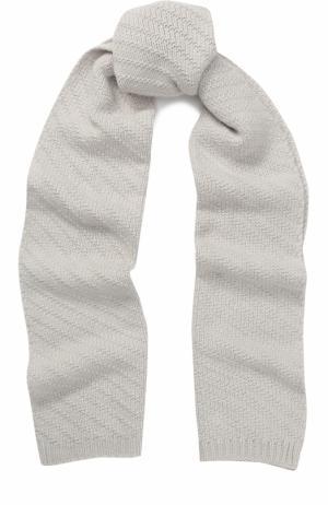 Кашемировый вязаный шарф Johnstons Of Elgin. Цвет: белый